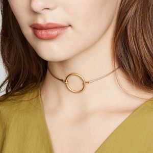 Madewell Adjustable Ring Choker Necklace